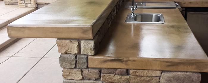 Outdoor Kitchen Concrete Countertops