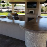 Outdoor Kitchen With Wood Fired Pizza Oven Sloughhouse, CA