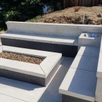 Outdoor Natural Gas Fire Pit, Kitchen and Bar in Roseville