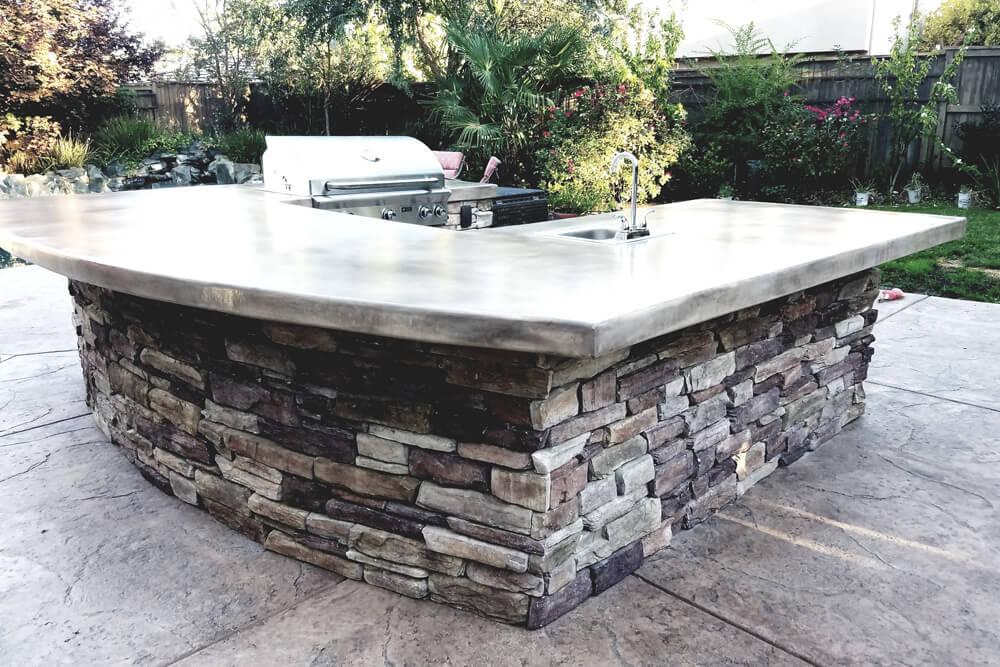 Luxury El Dorado Stone Outdoor Kitchen