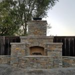 Traditional Wood Burning Outdoor Fireplace Design and Build in Fairfield