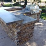 Natural Ledge Stone Outdoor Kitchen Design Rancho Murrieta