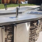 Manufactured Stone Outdoor Kitchen Designed in Davis
