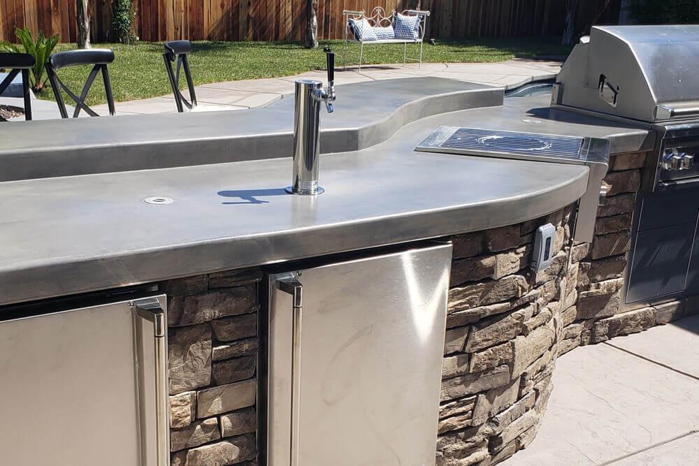 Manufactured Stone Custom Outdoor Kitchen Designed in Davis