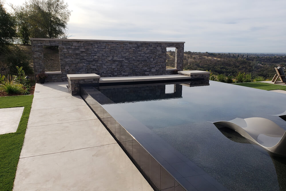 Custom Cultured Stone Outdoor Kitchen Built With Design in Loomis